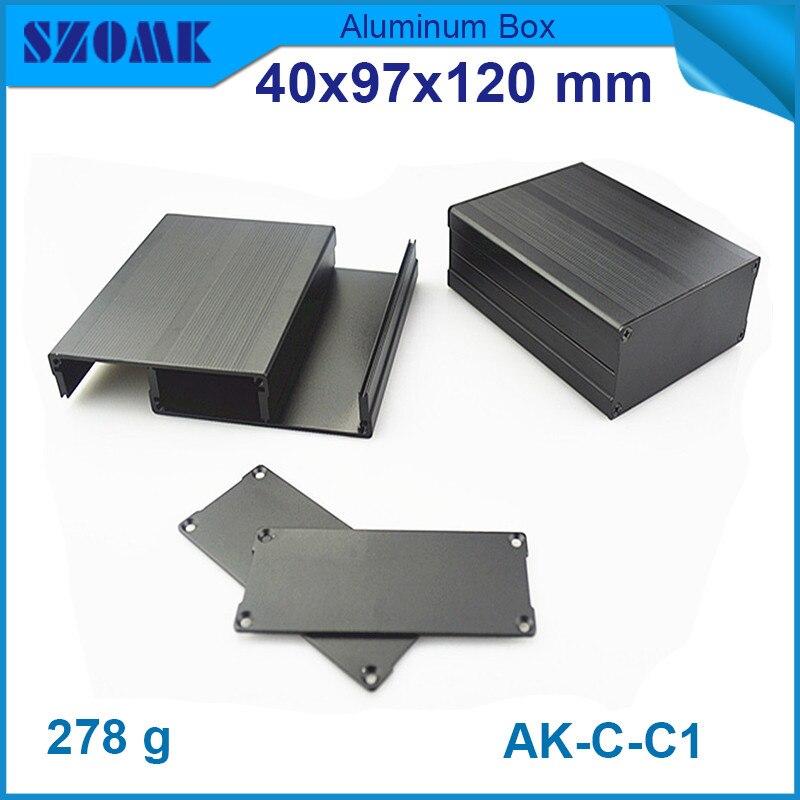 10pcs lot szomk electrical aluminium enclosure metal switch box for projector 40 97 120mm