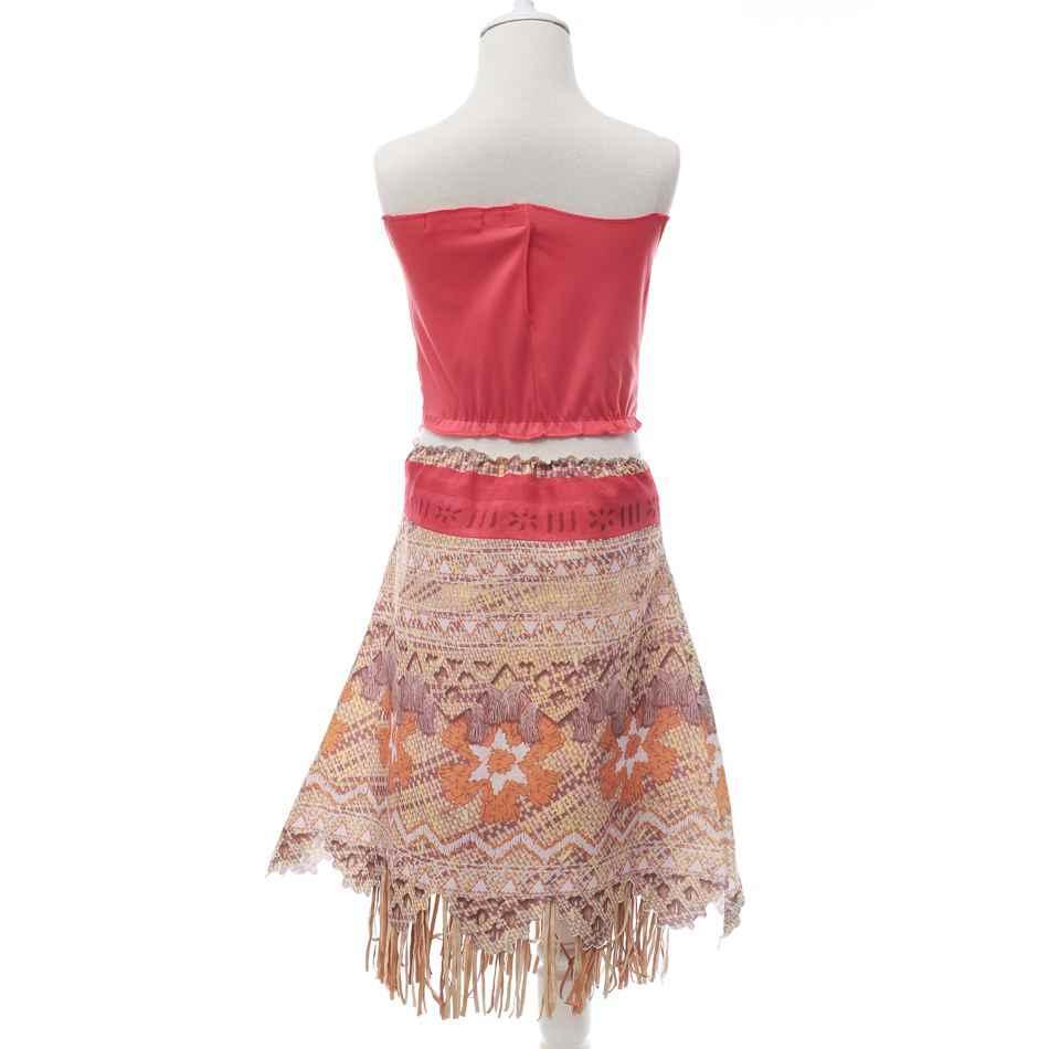 PaMaBa ילדים Moana הרפתקאות תלבושות בנות שמלת קיץ בגדי נסיכת Vaiana בגדי סט ילדי יום הולדת קוספליי להתלבש