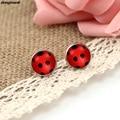WS1688 Miraculous Ladybug Stud Earrings glass Circle Animal Earrings for Girls Cat Noir Miraculous Ladybug Anime Jewelry