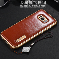 Original IMatch Case For Samsung Galaxy S8 S8 Plus Luxury Genuine Leather Phone Cases Bags With