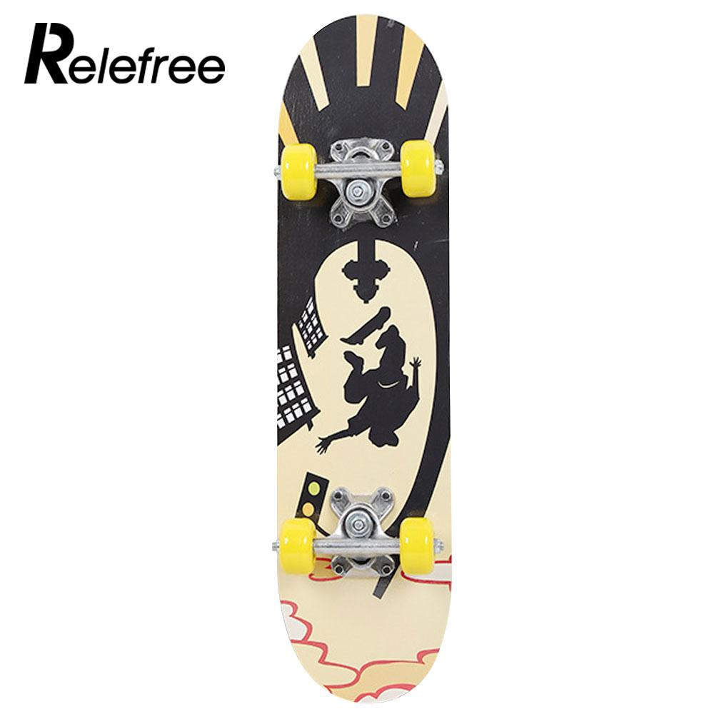 Maple Wood Four Wheel Scooter Deck Skateboard Extreme Sports Popular Complete Skateboard Single Warping Slide Skate Board-in Skate Board from Sports & Entertainment