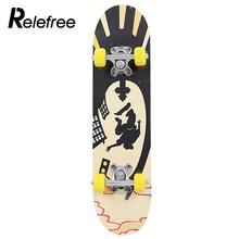 ancheer new boys and girls drop down long board complete skateboard maple wood cruiser skateboard Maple Wood Four Wheel Scooter Deck Skateboard Extreme Sports Popular Complete Skateboard Single Warping Slide Skate Board