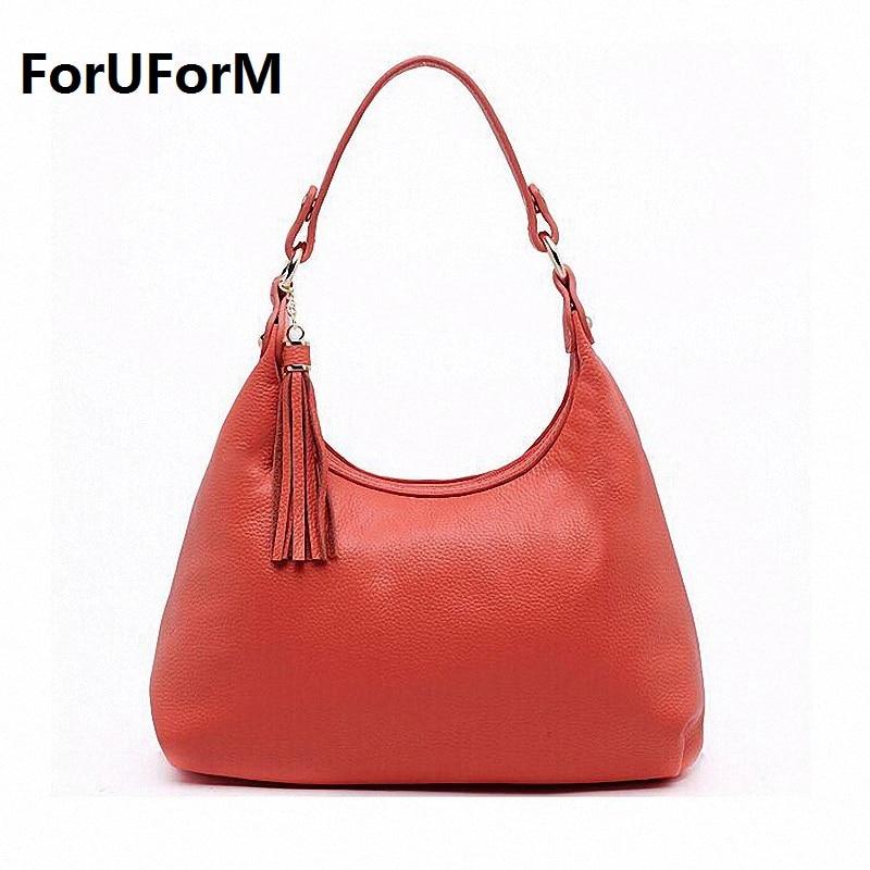 handbags Women shoulder bag first layer cowhide genuine leather bag famous brands women leather handbags bag ladies Hobos LI-738