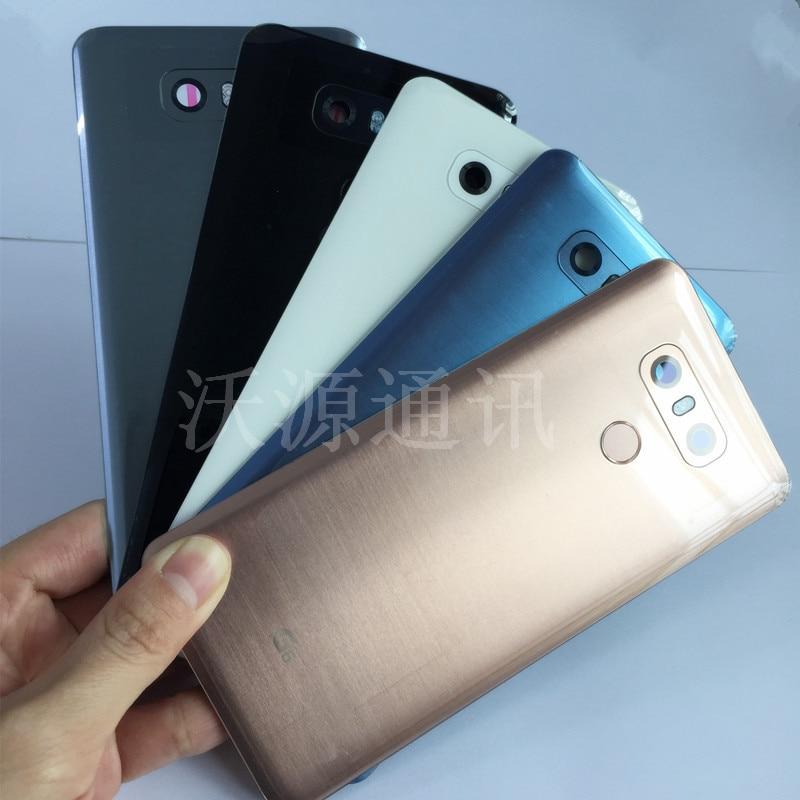 For LG G6 H870 H871 H873 VS998 Original Mobile Phone Cases Housing Back Cover Rear Battery Door With Camera Lens + Fingerprint|Mobile Phone Housings & Frames| |  - title=