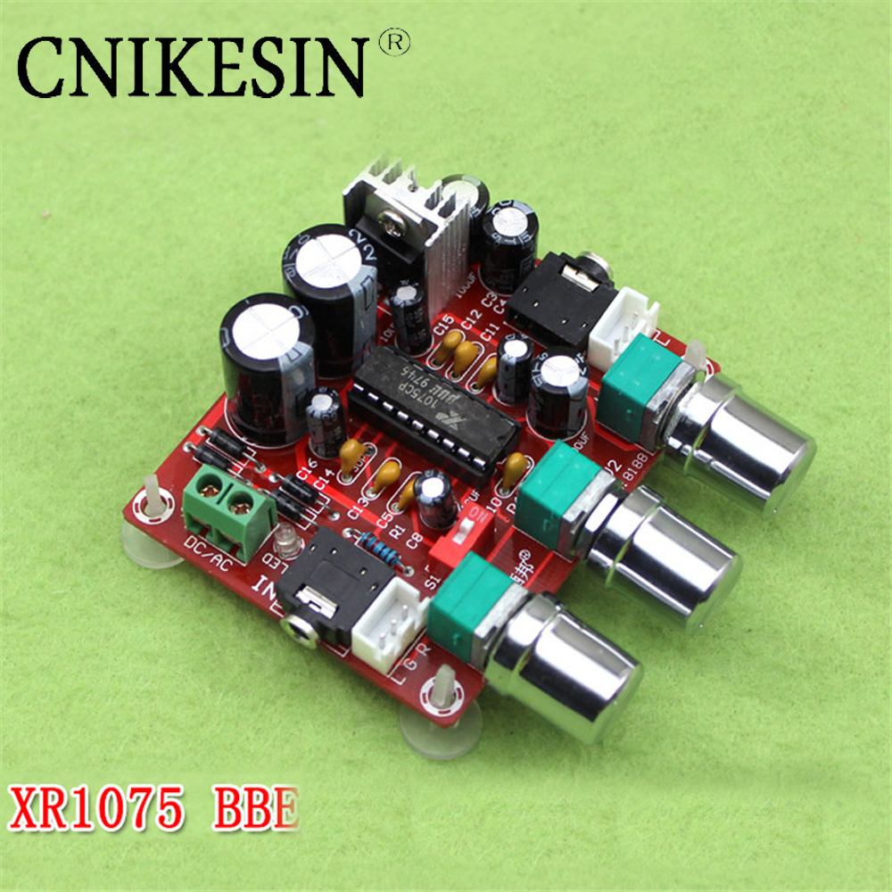 CNIKESIN Amplifier XR1075 tone board BBE digital audio power amplifier front-end processor to beautify the actuator plate