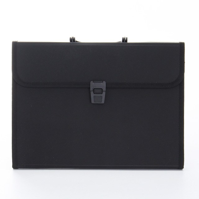 Kicute New Plastic Expanding File Briefcase Document Folder A4 Storage Bag  Organizer Filing Rectangle Bag Office