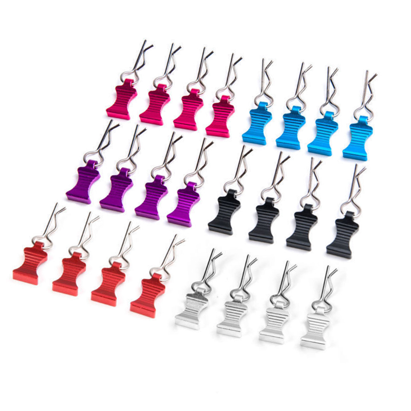 <font><b>1</b></font> Set R-type <font><b>Body</b></font> Shell Clips Pin with Aluminum Mount Set For <font><b>1</b></font>/<font><b>8</b></font> <font><b>1</b></font>/10 <font><b>1</b></font>/12 <font><b>RC</b></font> <font><b>Cars</b></font> Toys Parts Accessories image