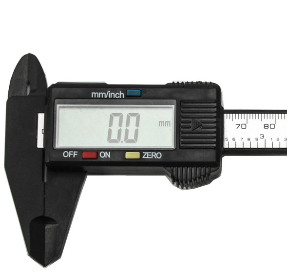 цена на 150mm 6 inch LCD Digital Electronic Carbon Fiber Vernier Caliper Gauge Micrometer Measuring Tool Caliper Ruler Digital Calipers