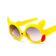 e67539bda9d الاطفال البيضاوي النظارات الشمسية لطيف الكرتون إطار طفل الفتيان فتاة نظارات  شمسية UV400 ، الطفل الأطفال في الهواء الطلق نظارات