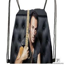 Custom bruce springsteen Drawstring Backpack Bag Cute Daypack Kids Satchel (Black Back) 31x40cm#20180611-02-62