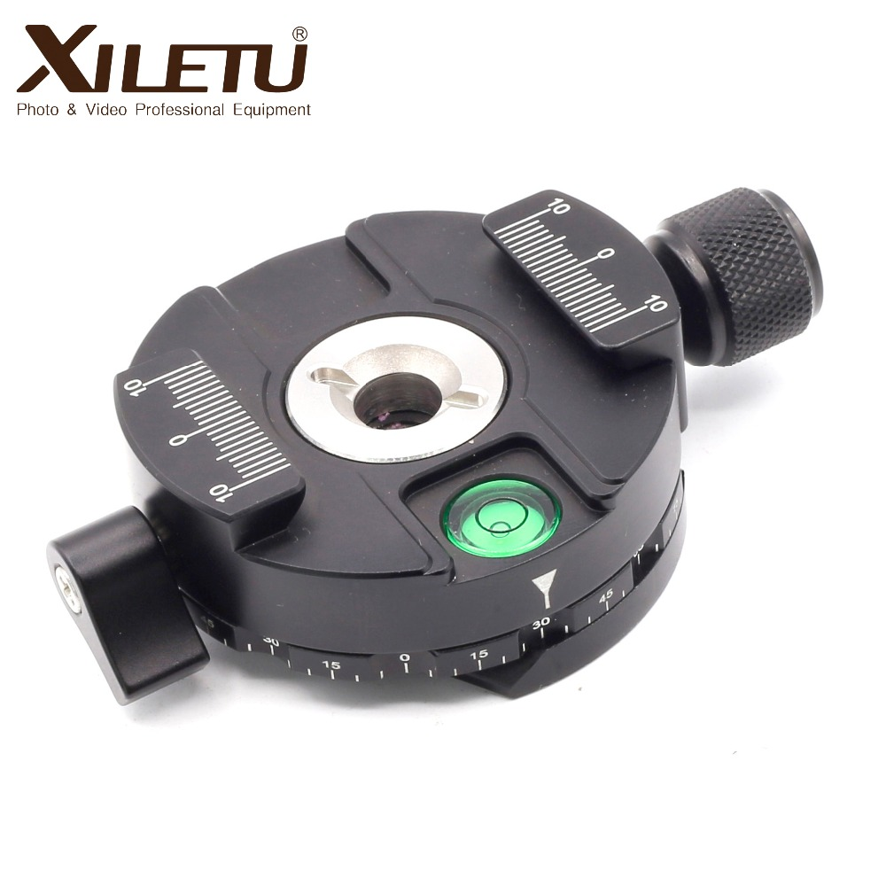 XILETU XPC 60C Aluminum 360 Degree Panoramic Tripod Head Clamping for Arca Swiss Tripod Ball Head with 38mm Quick Release Plate in Tripod Heads from Consumer Electronics