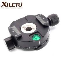 XILETU XPC 60C Nhôm 360 Độ Toàn Cảnh Chân Máy Đầu Kẹp cho Arca Thụy Sĩ Chân Máy Đầu Bóng 38mm Phát Hành Nhanh đĩa