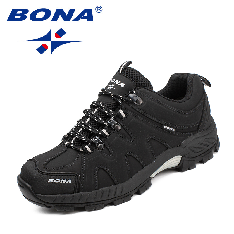 BONA New Arrival Classics Style Men Hiking Shoes Lace Up Men Sport Shoes Outdoor Jogging Trekking Sneakers Fast Free Shipping 3