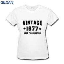 Made In 1977 All Parts Distressed Design 40Th Birthday Funny T Shirt Woman Large