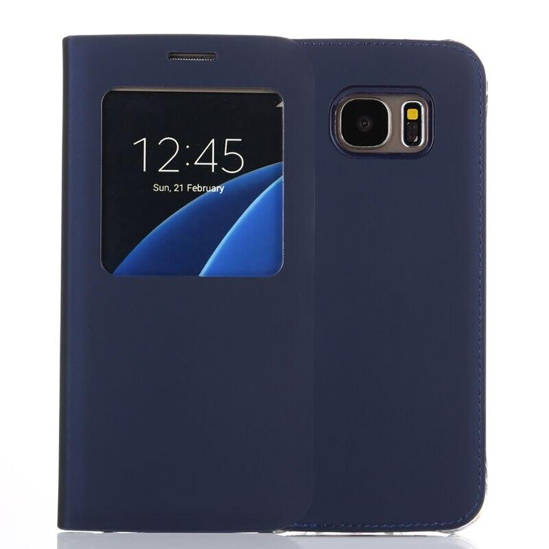 bilder für S-GUARD S7 fall Original Für Samsung Galaxy S7 S7 Rand IC Chip Fall Smart View Flip Ledertasche Auto-Sleep Wake Funktion abdeckung