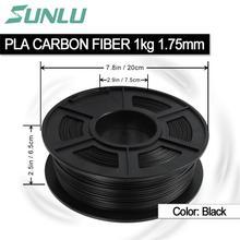 Sunlu незагрязняющий PLA углерода волокно 3d принтеры нити 1,75 мм для подарок на день рождения печати 5 дней, чтобы прибыть