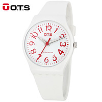 OTS New Fashion Simple Children Kids Watch Life Waterproof Silicone Students Watch Women Analog Wrist Quartz Watch Baby Clock