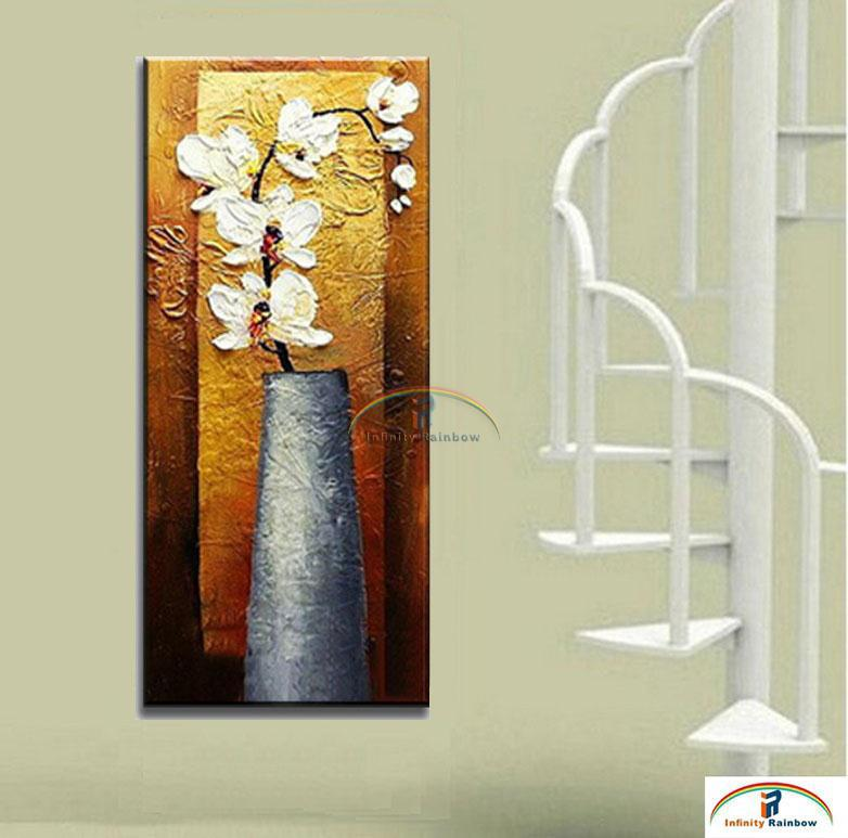 2016 Home Decor New Arrival Real Picture Flowers Oil Painting Wall Art Hand painted Modern On