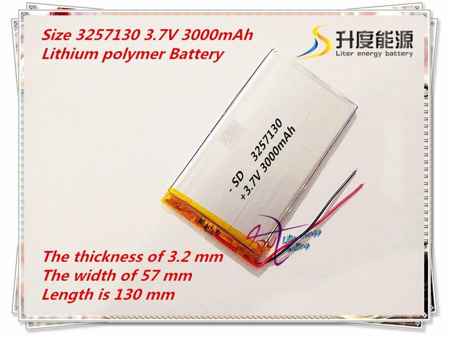 Polymer Lithium-ionen Batterie 3257130 3,7 V 3000 Mah Kann Angepasst Werden Großhandel Ce Fcc Rohs Msds Qualität Zertifizierung Stromquelle Digital Batterien
