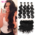 4 Bundles Deals Cheap Brazilian Virgin Hair With Frontal Closure Bundle 7a HC Weave Beauty Brazilian Natural Wave With Closure