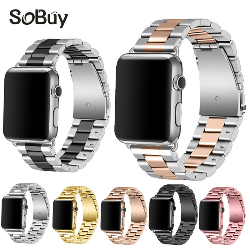 So buy Classic Link Bracelet Stainless Steel Watch Strap 38mm band For Apple Watch belt iWatch Series 3 2 1 Strap 42mm Watchband