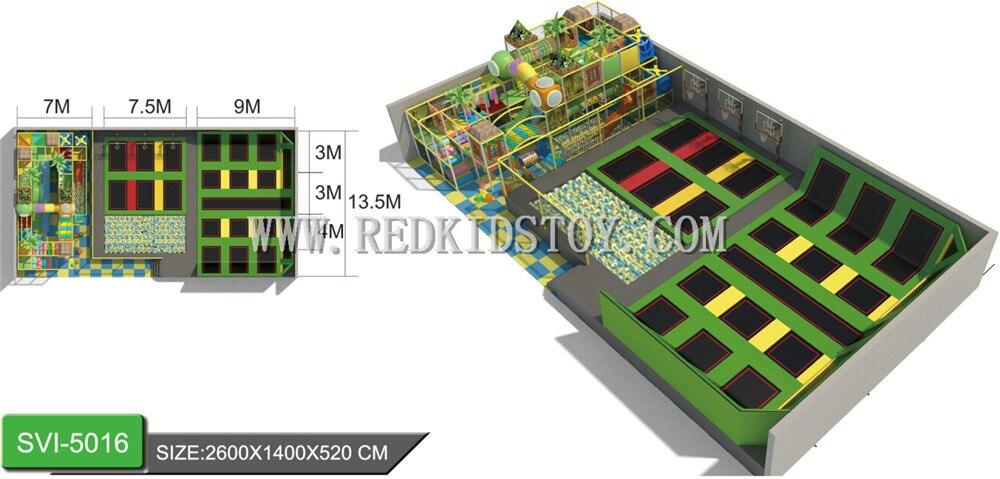 Commercial le plus chaud de Parc de Trampoline D'intérieur Superbe de Qualité Jouer zone Adultes Trampoline HZ-LG030