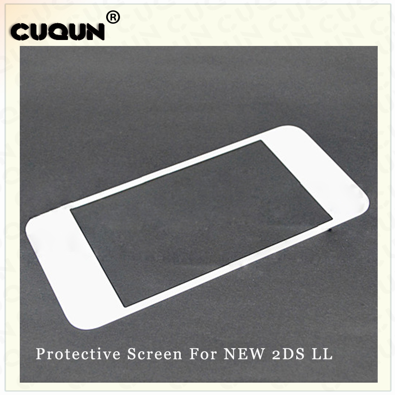 Original NEW Top Display LCD Protective Glass Mirror For Nintend New <font><b>2DS</b></font> <font><b>XL</b></font>/LL Top Surface Glass Protective Front Lens image