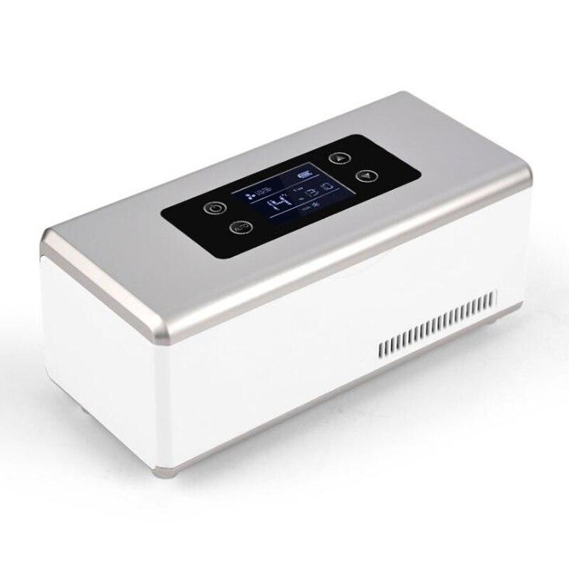 Insuline Portable refroidisseur voiture réfrigérée électrique Auto réfrigérateur voyage extérieur Mini réfrigérateur insuline Portable boîte à médicaments