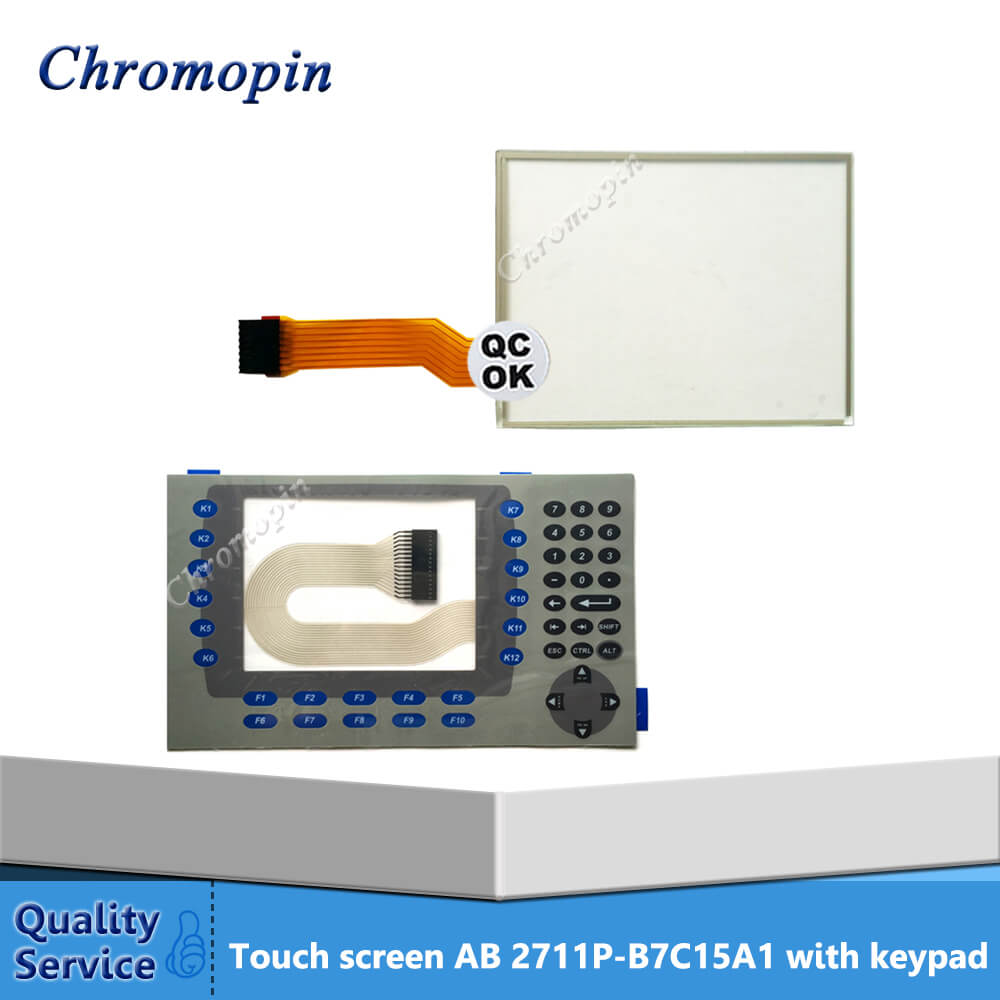 Touch screen panel for 2711P-B7C15A1 2711P-B7C15A2 2711P-B7C4D8 2711P-B7C4D7 PanelView Plus 700 with protective film цена
