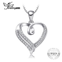 JewelryPalace Love Heart Round Cubic Zirconia Pendant 925 Sterling Silver Jewelry Not Include A Chain Valentine