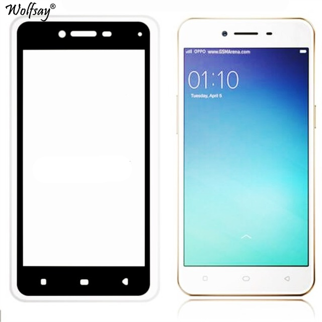 Glass For OPPO A37 Screen Protector Tempered Glass For OPPO A37 A37M Full Cover Protective Film For OPPO A 37 Round Edge Glass