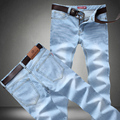 Hot Classic blue jeans male thin models selling men's minimalist straight denim trousers loose big yards trousers high quality