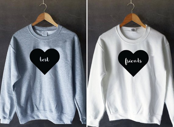 Sugarbaby Best Friend Pullover Bff Sweatshirt BFF Jumper Long Sleeve Fashion Sweatshirt High Quality Casual Tops Drop Ship