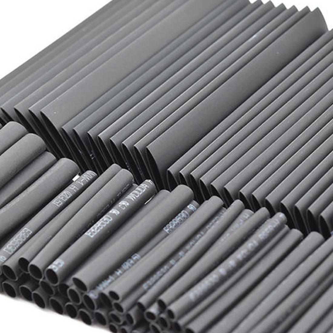 Купить с кэшбэком Hot 127pcs 2:1 7 Sizes Assortment Polyolefin Halogen-Free Heat Shrink Tubing Tube Sleeving Wire Cable Kit