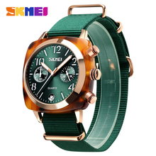 SKMEI Luxury Fashion Women Watches Men Quartz Wristwatches Waterproof Stopwatch Multi-dial relogio feminino 9186