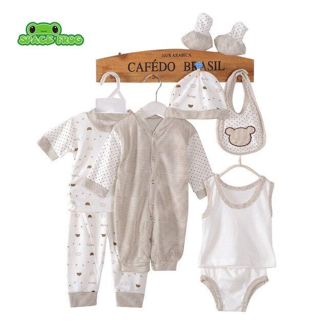 dd14949d1 8pcs set)Newborn Baby set 0 3M Brand Boy Girl baby Clothes set ...