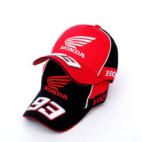 Moto GP 93 Motorcycle Racing Hat Motocross Riding Hats 3D Embroidered Wing Racing Team Baseball Cap