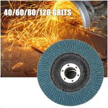 Flap zımpara diski 115mm 40/60/80/120 irmik yuvarlak zımpara zımpara kağıdı diskleri 4.5 inç taşlama diski Flap diskler