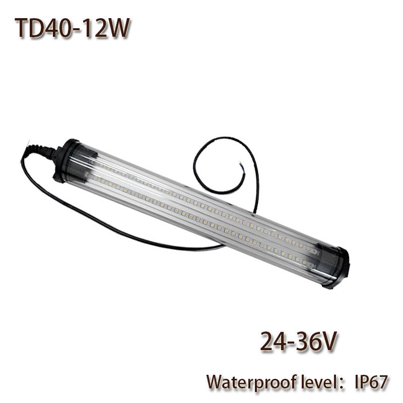 HNTD 12W DC 24V/36V LED Panel Light Led Work Lamp Waterproof IP67 Explosion-proof TD40 for CNC Machine Tools