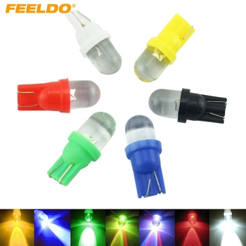 1PC DC12V 5-Color T10 194 168 1 LED Convex LED Wedge LED Light Bulbs for Car Dashboard #FD-3802 image