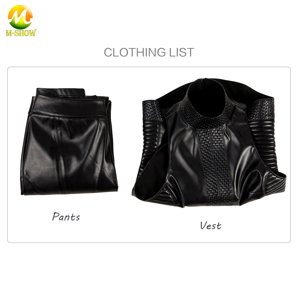 Alita:Battle Angel Cosplay Costume Movie Alita Leather Sexy Black Outfit For Adult Women Halloween Carnival Custom Made
