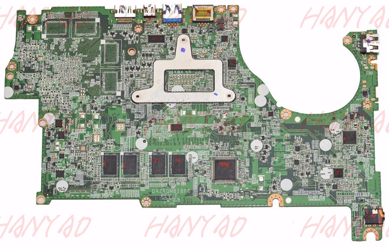 DAZRQMB18F0 For font b ACER b font M5 583 laptop motherboard With i7 CPU ddr3 NBMB711002