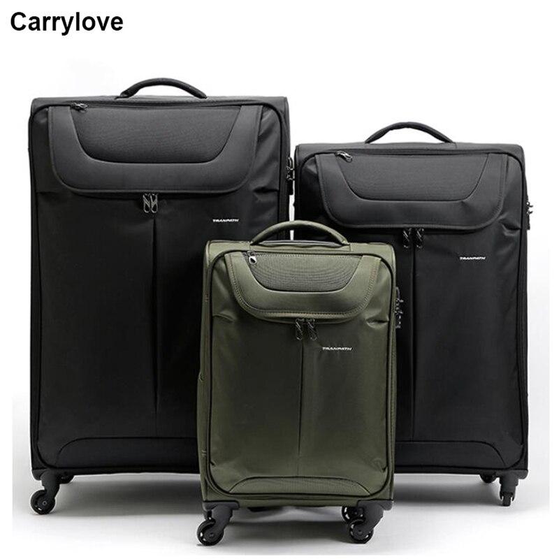 """CARRYLOVE 20 """"24"""" 28 """"32"""" pollici impermeabile grande bagaglio di viaggio trolley valigie e borse da viaggio di grandi dimensioni capacità-in Valigia a rotelle da Valigie e borse su  Gruppo 1"""