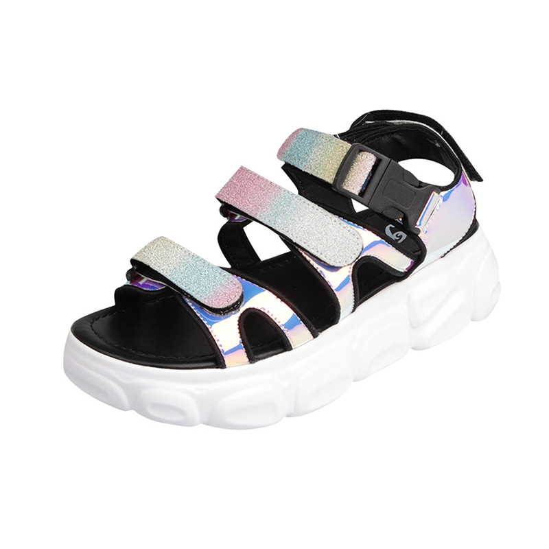 Womens Sandal 2019 Summer Fashion Sequins Chunky Sandals For Woman Shoes Leather Platform Sandals Female Summer Sandal ShoesWomens Sandal 2019 Summer Fashion Sequins Chunky Sandals For Woman Shoes Leather Platform Sandals Female Summer Sandal Shoes