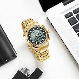Image 4 - 2020 cyfrowy zegarek mężczyźni luksusowej marki MIZUMS mężczyźni Sport zegarki wodoodporny stalowo złoty zegarek kwarcowy męska wojskowy Relogio Masculino