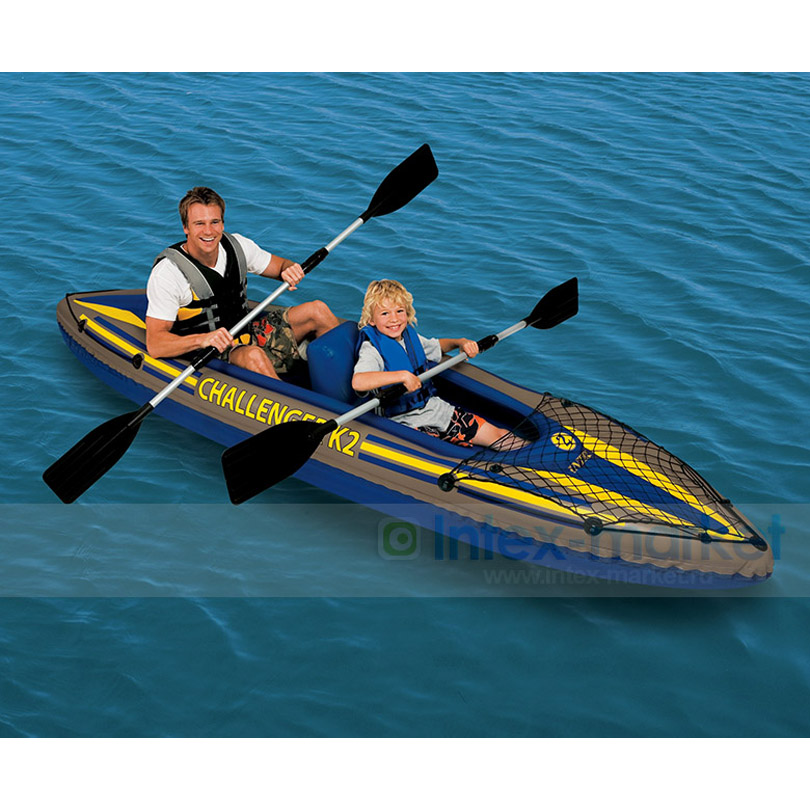 Egoes Explorer K2 2 Person Inflatable Kayak Set with Aluminum Paddles and Air Pump 68306 funny summer inflatable water games inflatable bounce water slide with stairs and blowers