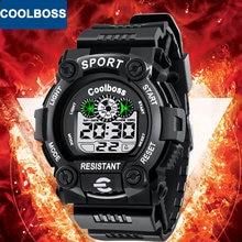 6a40b48eb6ca Coolboss estudiante deporte niños reloj niños relojes Niños reloj 2018 LED  Digital reloj electrónico reloj para niño Niñas