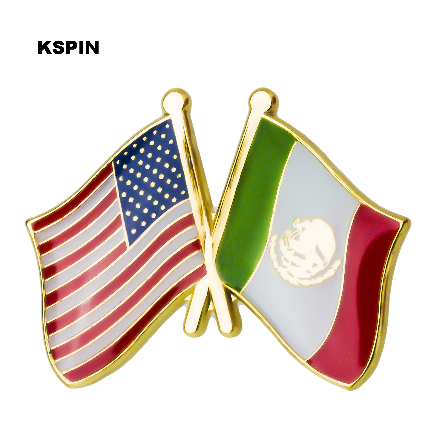 Badges Apparel Sewing & Fabric U.s.a South Africa Friendship Flag Metal Pin Badges For Clothes In Badges Button On Brooch Plating Brooches For Jewelry