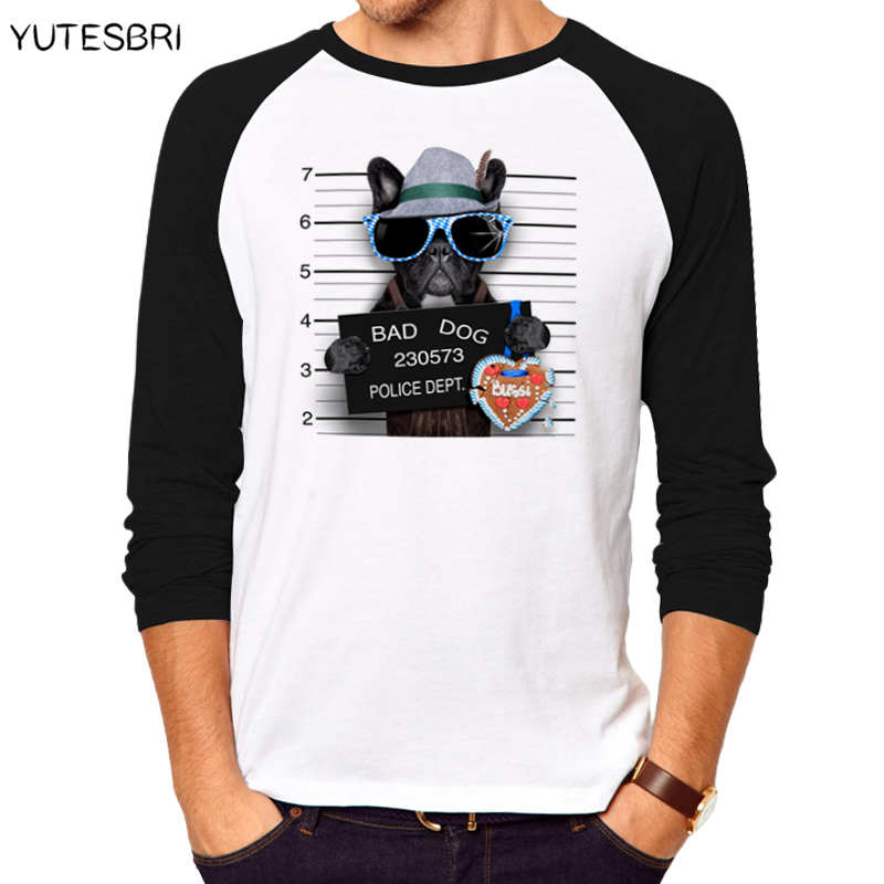 High quality cotton funny bad dogs rock t shirt men long for Good quality cotton t shirts