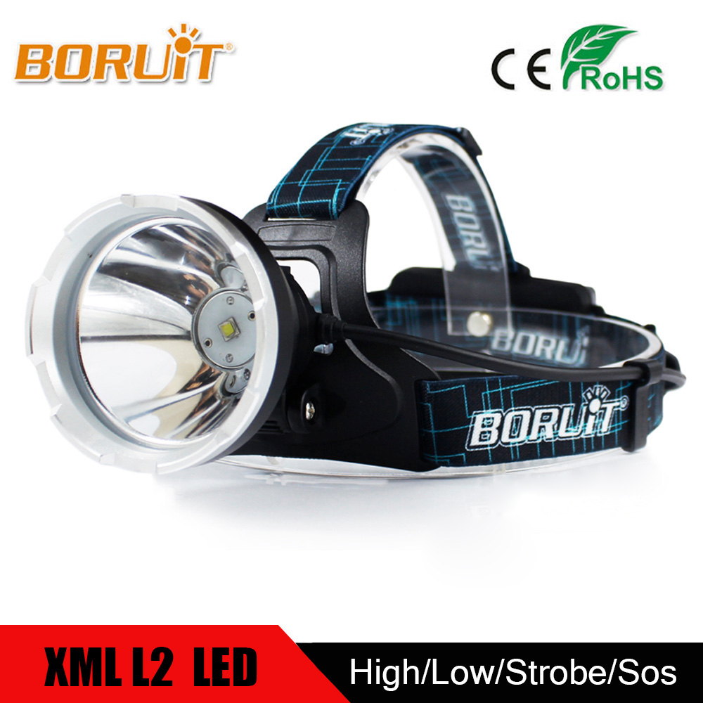 BORUIT Powerful B10 XML L2 LED Headlight Lantern Head Torch Head Lamp USB Charge Flashlight For Bicycle Hunting Fishing By 18650 boruit xml l2 led headlight lantern 4 modes usb power bank headlamp for fishing hunting use 18650 battery torch lanterna rj 5001